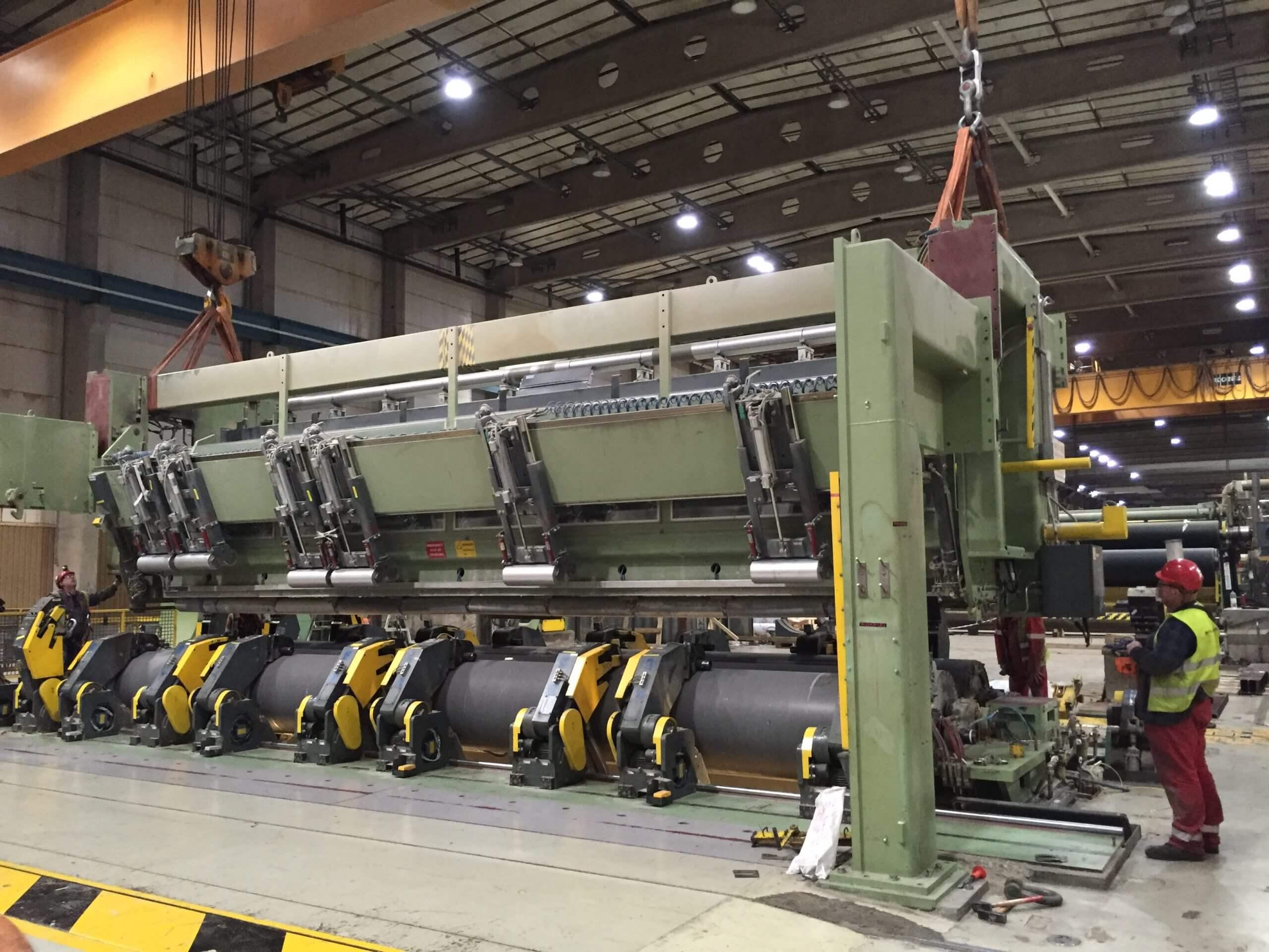 Délocalisation d'une machine à papier d'Angleterre en Chine